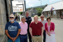 Tomintoul business owners unhappy that the main tourist route to their village is to be closed during the peak season. L-R: Mike Fletcher, Ron Hughes, Drew McPherson, Martin Mutchinson, Paul Alderson, and Caroline Breen. Picture by Gordon Lennox