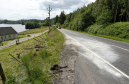 Marks on the road and a broken fence mark the spot of yesterday afternoons accident on the A82 north of Fort Augustus.