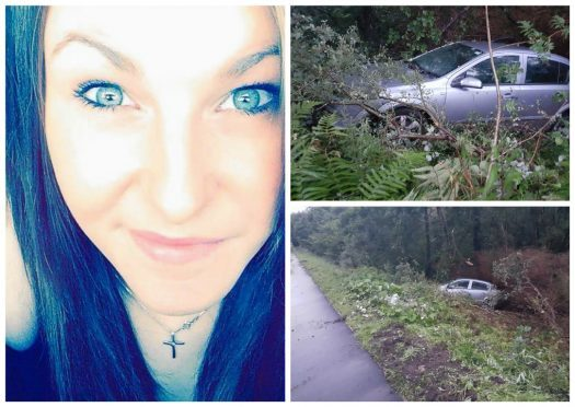 Laura Tipping was involved in the crash on the A82
