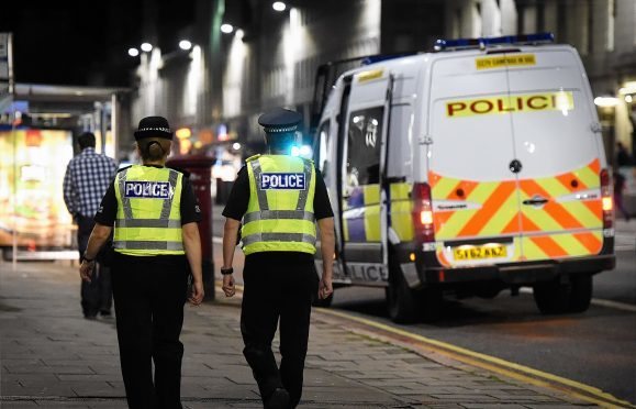 Police on patrol in Aberdeen city centre