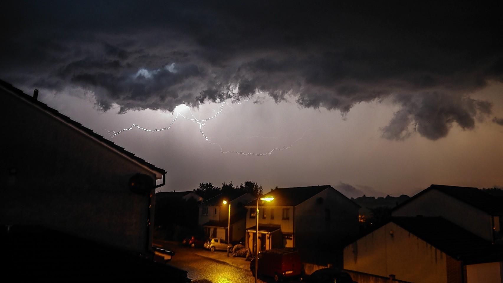 Lightning at Newtonhill yesterday