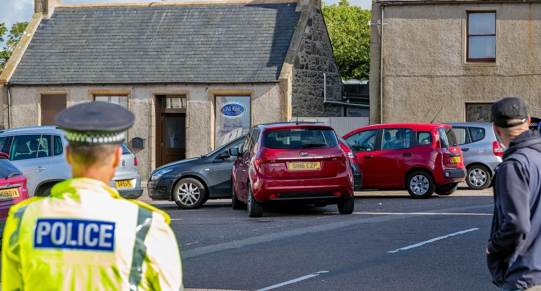 The scene of the crash in Portsoy