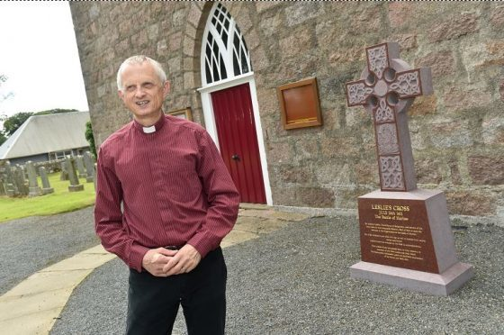 The Rev. Martyn Sanders at the Chapel of Garioch Church will host a service of remembrance as part of their service which will recognise those who lost their lives  at the Battle of Harlaw 605 years ago. Credit: Colin Rennie.