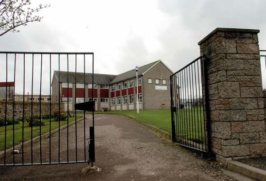 Keith Grammar School features high on the council's risk list.
