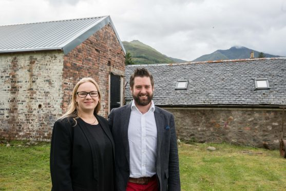Noru and Craig Innes outside the building they are turning into a micro distillery