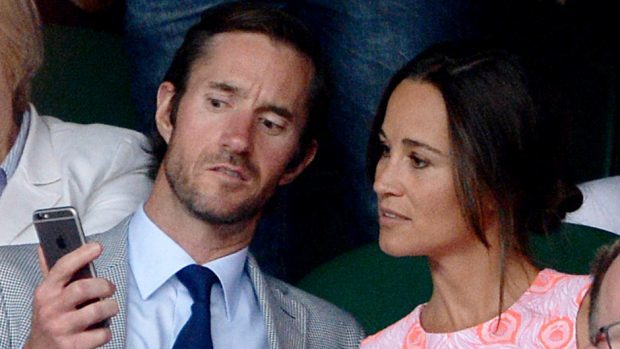 Pippa Middleton and fiance James Matthews pictured at Wimbledon last year