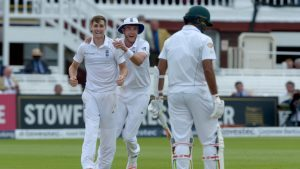 Chris Woakes (left) has taken five for 31 so far in Pakistan's second innings