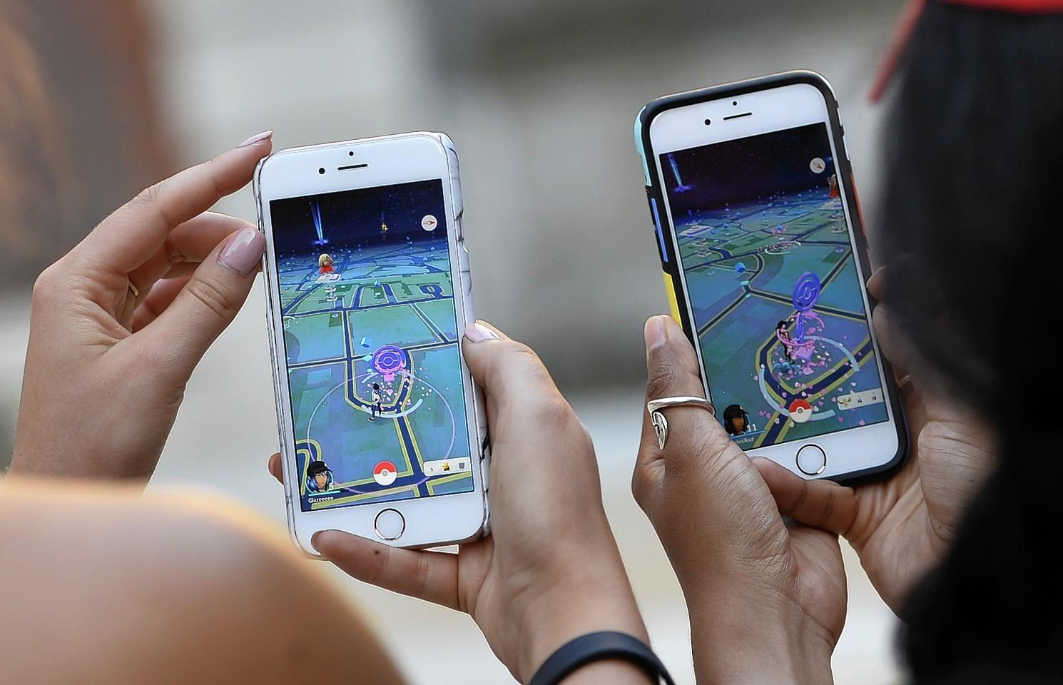 The Pokemon Go app
