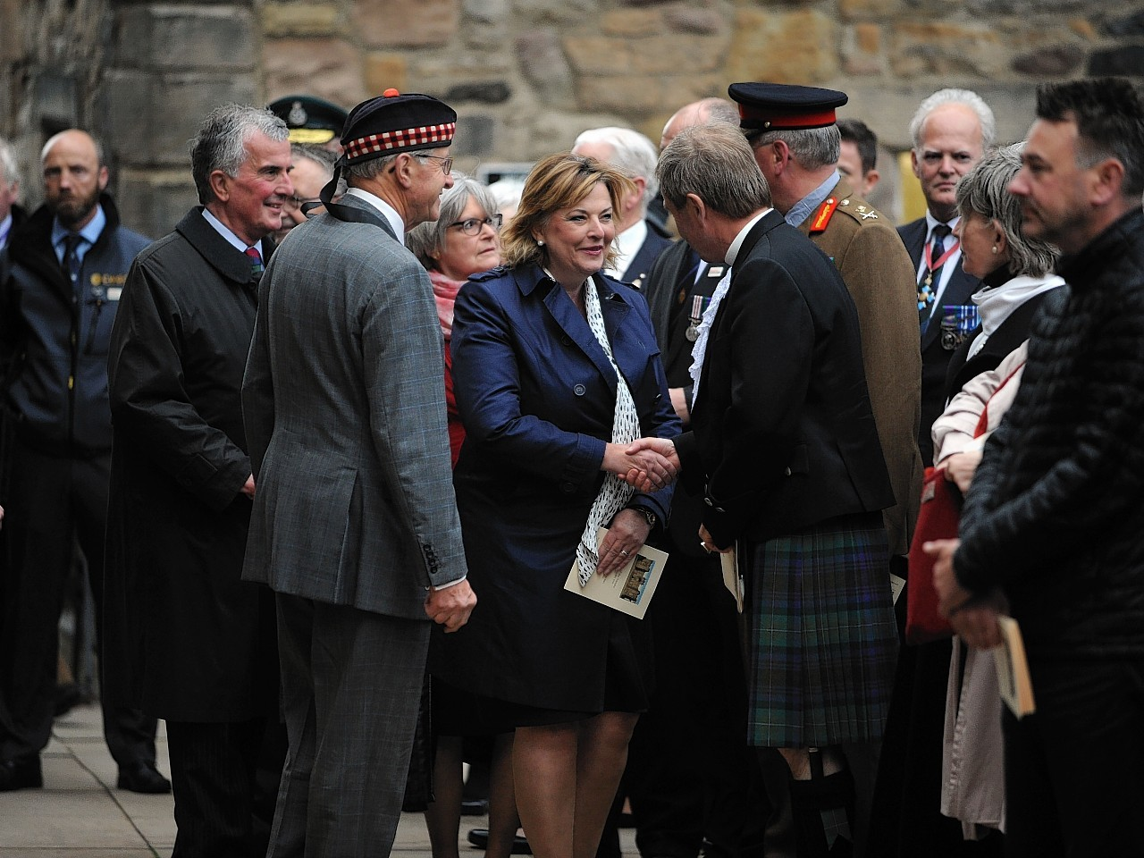 Organisers and descendants came together on thursday evening on an overnight vigil that will take place at the scottish national war memorial