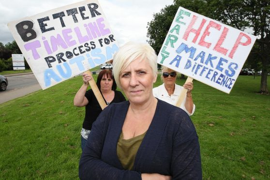 Sylvia Mackenzie, who organised a protest outside Raigmore Hospital last year as part of her campaign efforts, is worried that the local authority may be failing her nephew, who has autism and ADHD