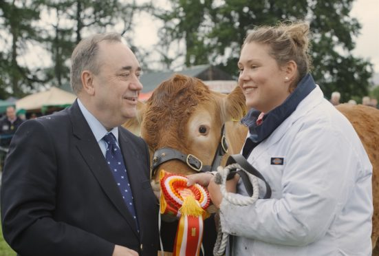 Alex Salmond seen with Aileen Ritchie