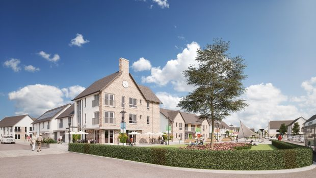 "An artist impression of the ""village core"" in the Elgin South development."