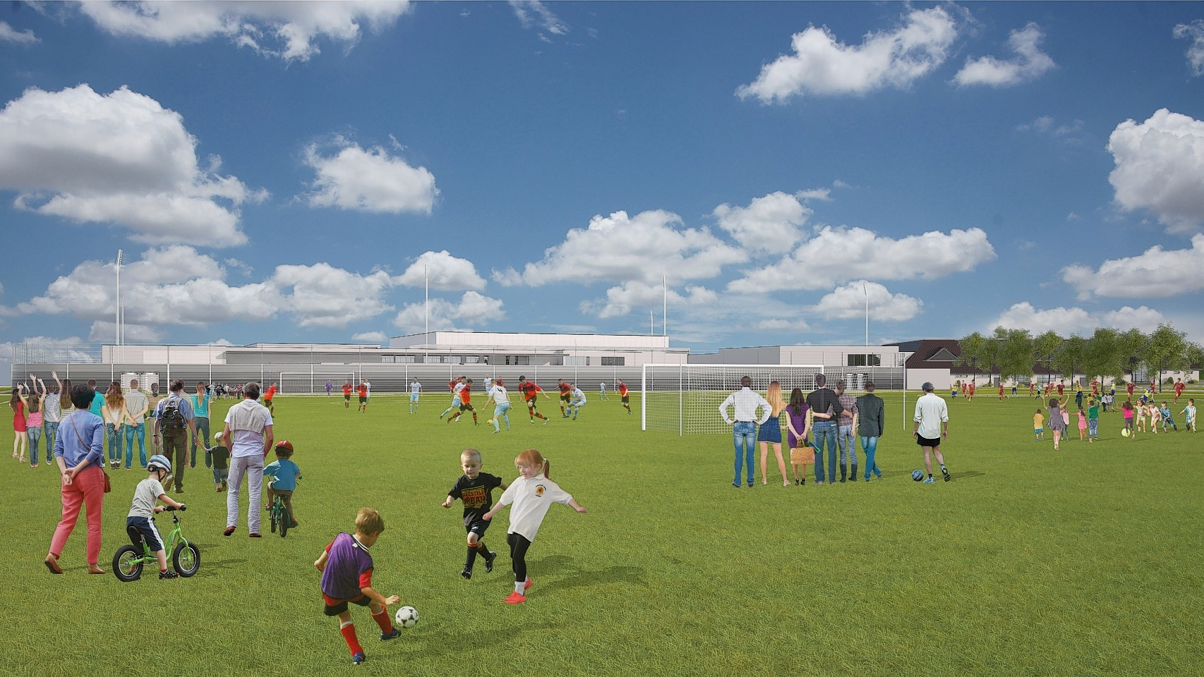 Outdoor facilities at the proposed Garioch Sports and Community Centre