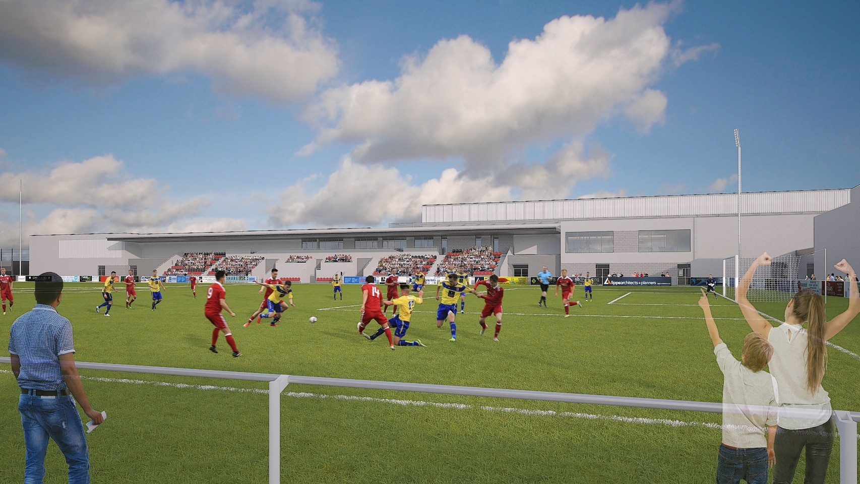 The Inverurie Loco Works FC grounds at the Garioch Sports and Community Centre