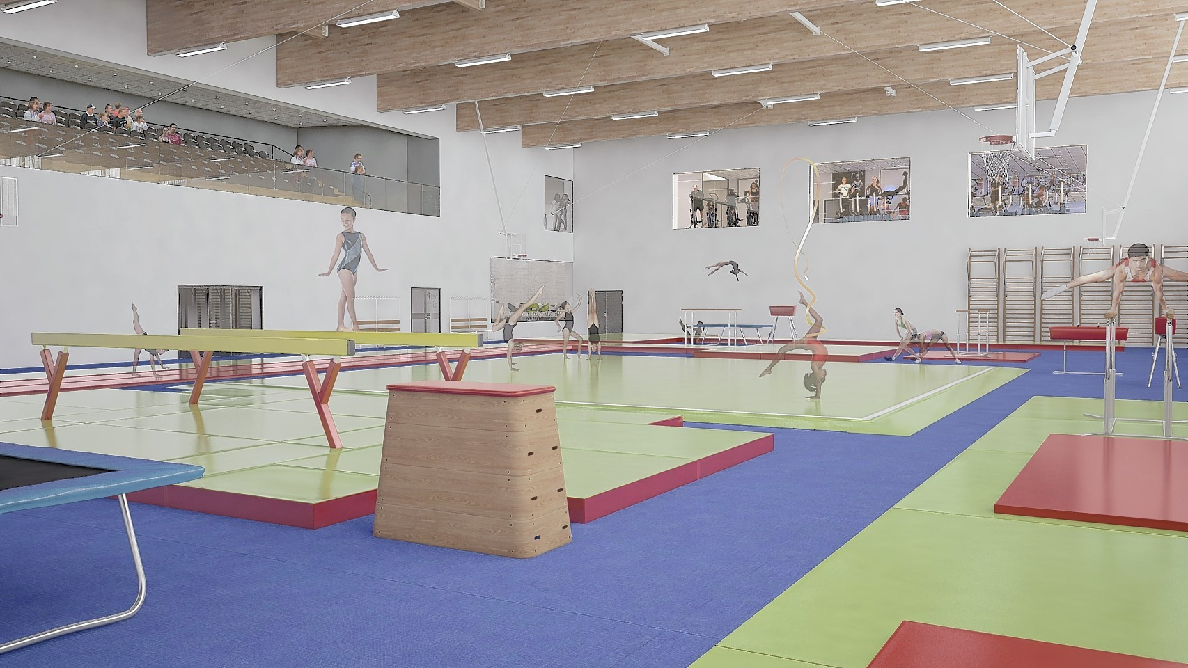 Modern facilities inside the Garioch Sports and Community Centre