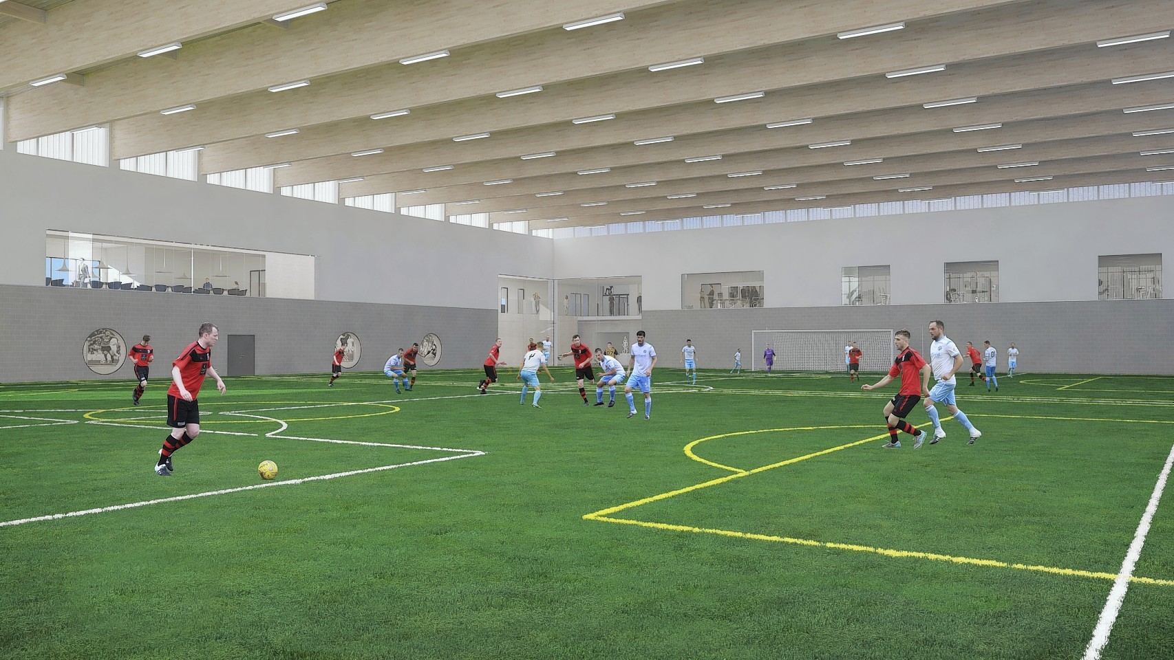 Some of the indoor pitches at the A look inside the Garioch Sports and Community Centre