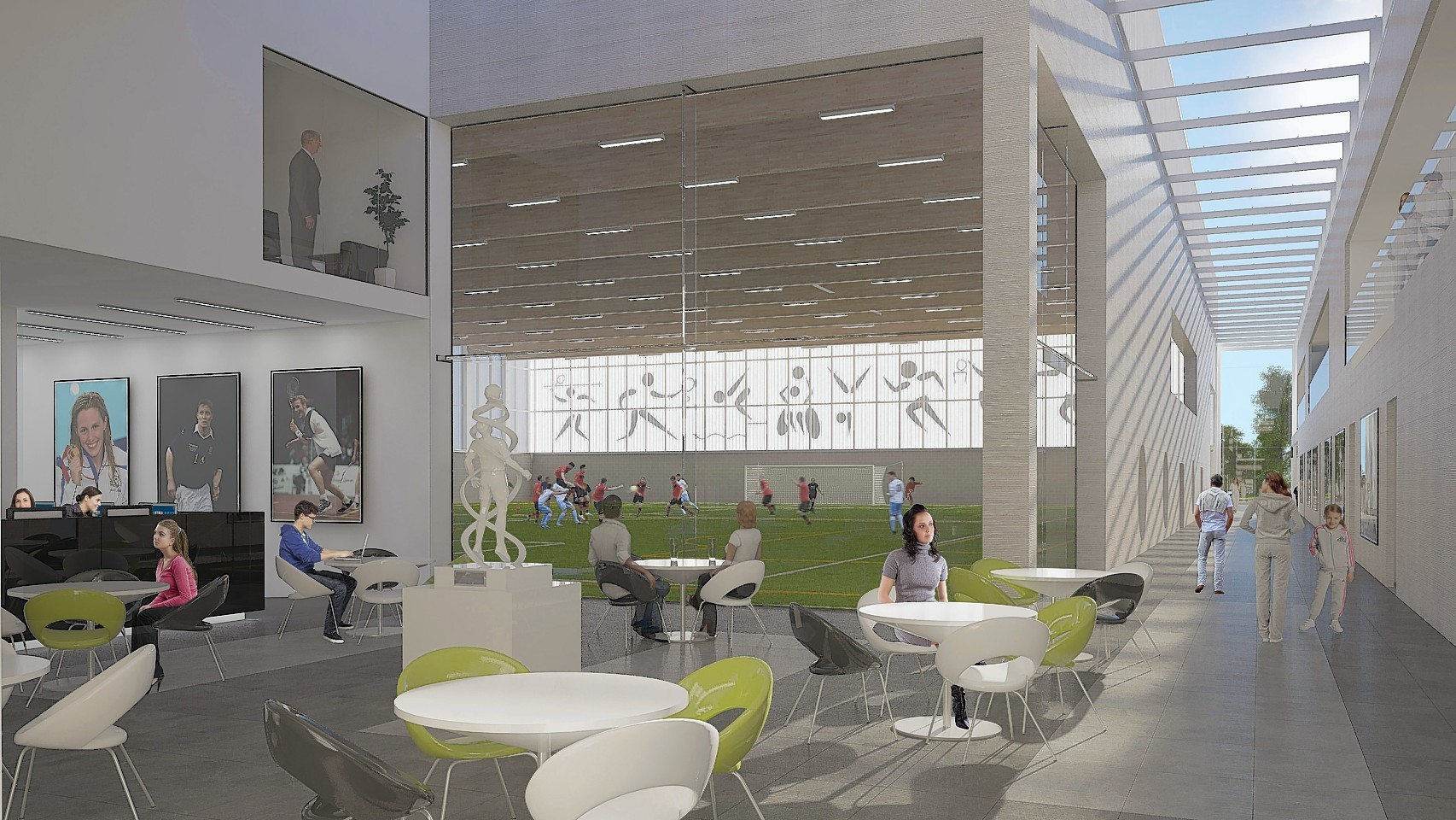A cafe in the proposed Garioch Sports and Community Centre