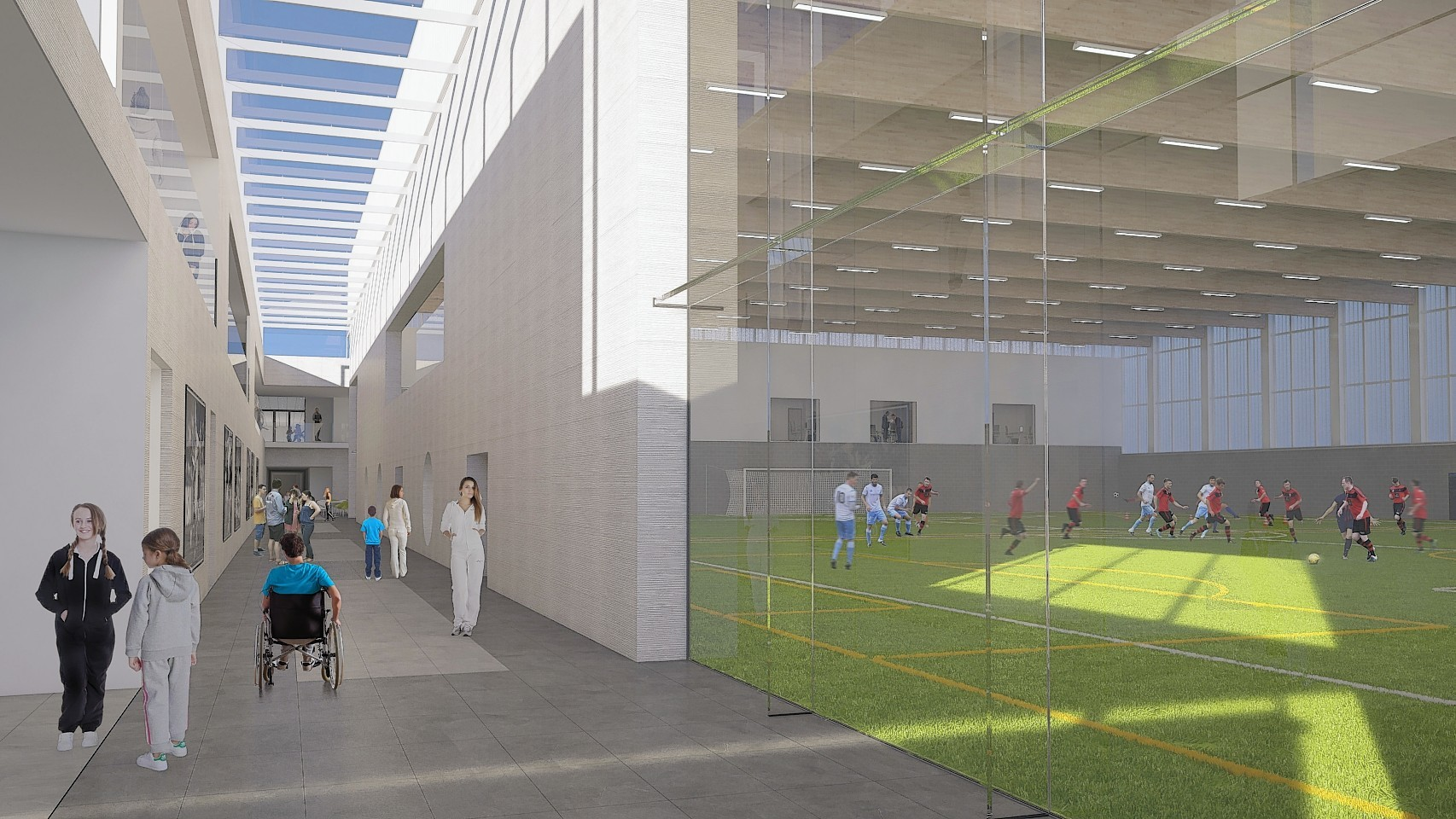 A look inside the proposed Garioch Sports and Community Centre