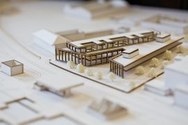 A model of the proposed Inverness Justice Centre.