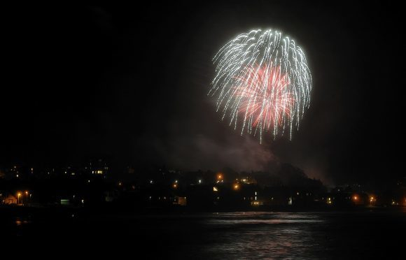Stonehaven Fireworks 2016 in Mineralwell Park, Stonehaven. Pictures taken from the El Street public car park.  Picture by KENNY ELRICK     06/11/2016
