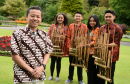 Picture of (L-R) Maulana Muhommad Syuhada, Putu Sandra D.K, Audi Razaqa Soendaajana, Farras Nafa Khairynnisa, Lendra Pitrah Romadona, at Seaton Park, Aberdeen.