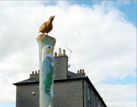 Totem Pole on School Road, Seaton. Picture by RORY RAITT.
