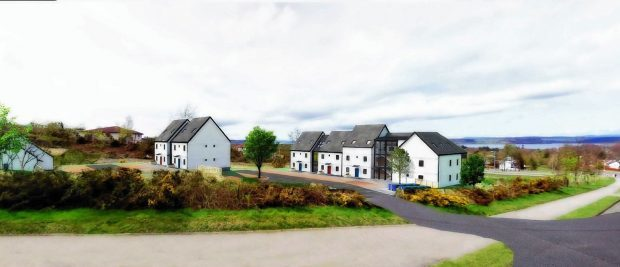 An artist's impression of the possible new flats off Tower Road