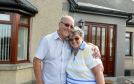 Back into their house for the first time since January are Derek and Lyn MacKay, Port Elphinstone, Inverurie.