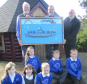 Back Row, Ian McIntosh, Catterline Harbour Trust, Stuart Buchanan, Catterline artist, Dave Ramsay Project Director  Back Row Pupils  – Daisy, Alex and Cameron Front Row – Leona, Belle and Lewis