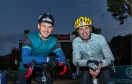 Rob Wainwright, former Scottish rugby captian and Mark Beaumont, record-breaking long-distance British cyclist