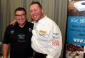Jimmy Buchan from BBC's Trawlermen and chef Craig Wilson, Eat at the Green restaurant