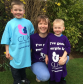 Alison Brown with her two sons, Calum, 5 left and James, 3
