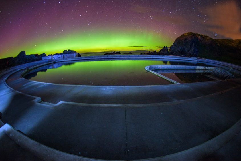 Pictures An Unbelievable Display Of Northern Lights In The North East Press And Journal
