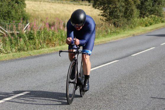 Champion cyclist Callun Finlayson