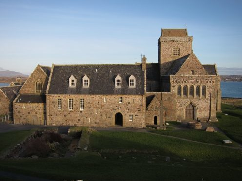 The library is hidden above the cloisters of Iona Abbey