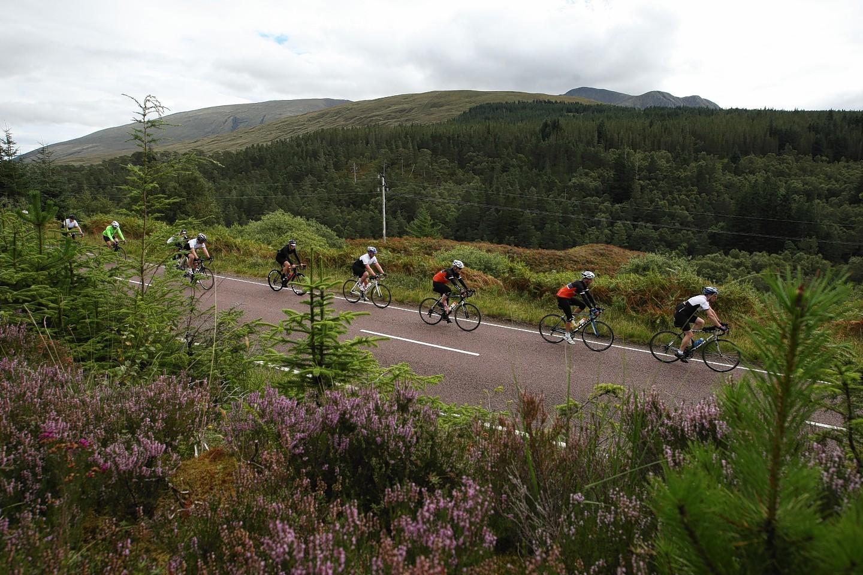 The team around 20 miles from Lochcarron