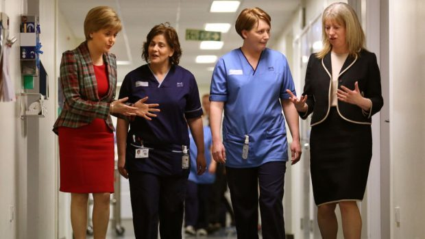 Shona Robison (right) said NHS staff numbers have risen significantly under the SNP administration