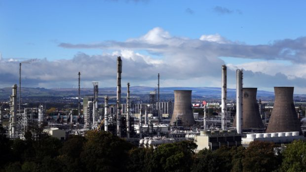 A tanker carrying ethane from US shale fields docked at Grangemouth on Tuesday