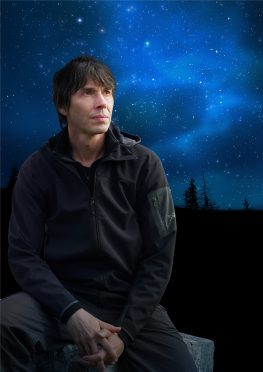 Professor Brian Cox was in Aberdeen last night for the first of his stage shows