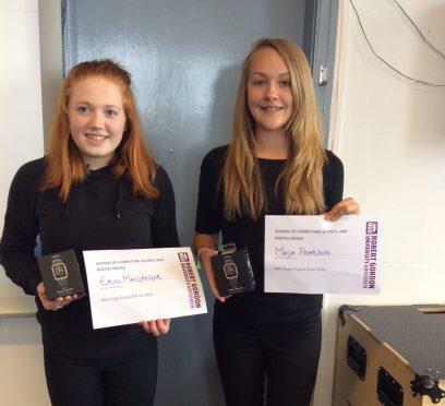 RGU project prize winners