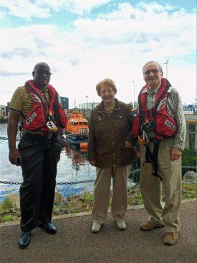 Rev Richard Ngomane with Elsie and John Tait.