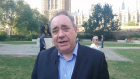 Alex Salmond outside Westminster