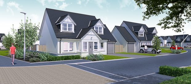 An artists impression of the proposed houses