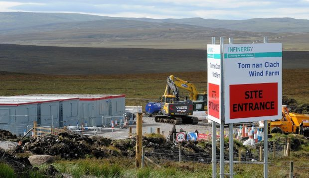 Work is underway on the Tom nan Clach windfarm