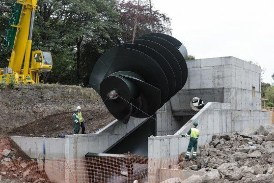 The Archimedes screw turbine in Aberdeen