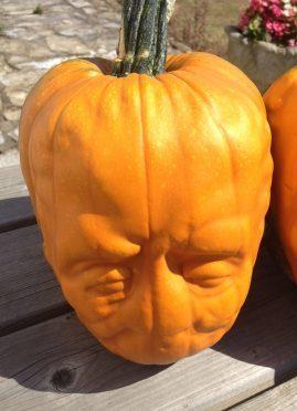 Frankenstein pumpkins