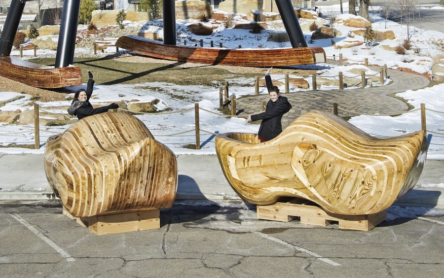 Largest pair of clogs in the town of Casey, Illinois