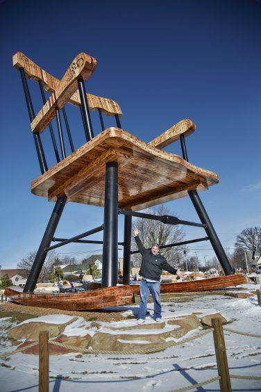 Largest Rocking Chair in the town of Casey, Illinois