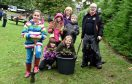 Pictured: Cornhill Primary School pupils L-R front - Gemma Still, Summer Flett, Abbie Shepherd back - Erin Buchan and Marshall Meikle, who helped plant the bulbs with Council leadert Jenny Laing and Rotary Vice President Bob Hughes with his dog Jess.
