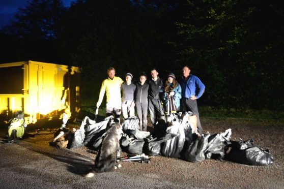 The 25 bags of rubbish collected on Ben Nevis last year